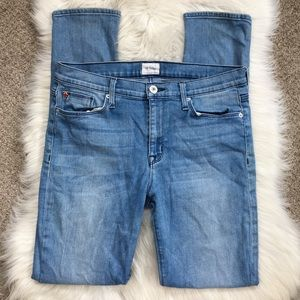 Hudson Stretchy High Rise Skinny Jeans Light Wash